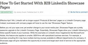 http://www.business2community.com/b2b-marketing/get-started-b2b-linkedin-showcase-pages-0837614
